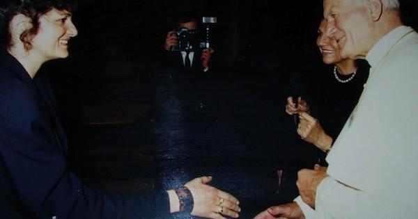 Gabriella Gagliardibi col santo padre